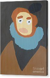 Canvas Print featuring the painting Portrait Of Maria Anna 2015 - After Diego Velazquez by Patrick Francis