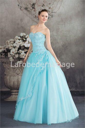 Robe de bal de promo 2013 princesse A-ligne en organza