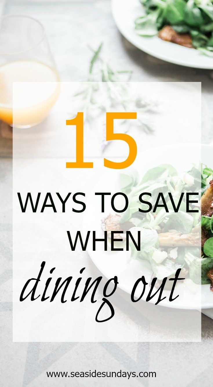 Easy ways to save money at restaurants. Secret tips for saving money eating out. Slash your bill when eating out with these great tips and ideas for making the most of your money. Lower your dining out costs with these cost-cutting tricks that work. Embrace a more frugal lifestyle and save money. This guide will help you to spend less money on eating out and stick to a budget. Families and couples can save tons of money in restaurants with these ideas
