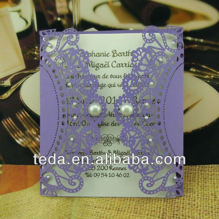 Handmade decoration greeting cardwedding invitation card printing