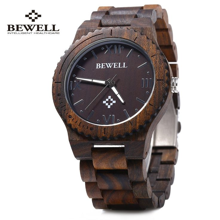 Bewell ZS - W065A Wood Men Quartz Watch Roman Numeral Scales Waterproof Wooden Man watches 2016 Brand Luxury relogio masculino //Price: $47.86 & FREE Shipping //     #hashtag2