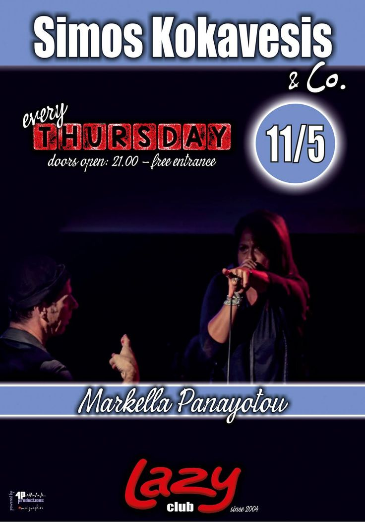 Simos Kokavesis & Co. feat. Markella Panayotou @LAZY Club | Lives Calendar
