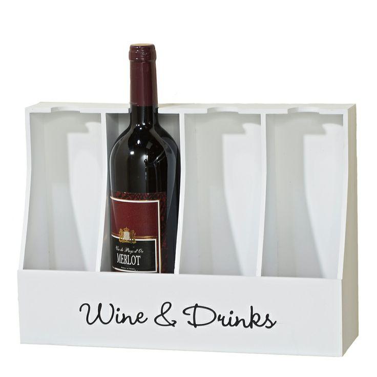 Dacă sunteţi un colecţionar de vinuri atunci nu trebuie să vă lipsească din recuzită suportul de sticle Lemgo. Suportul este construit din MDF de culoare albă, poate susţine patru sticle iar înălţimea lui este de 25 cm. Cu siguranţă acest obiect îşi va găsi locul în orice bucătărie.
