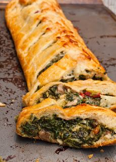 Tuscan Artichoke and Spinach Strudel from I Love to Cook <-- #WinePairing: Sutter Home Chardonnay