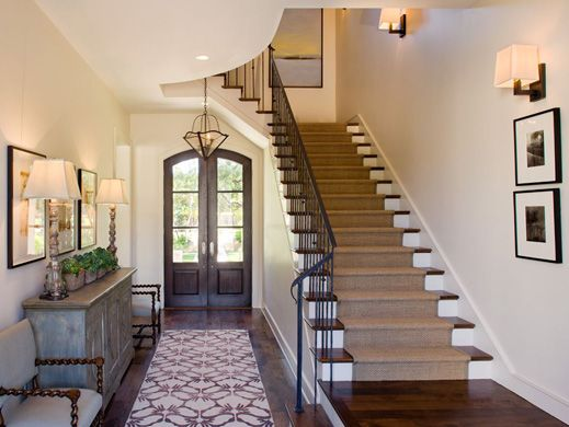 James D LaRue - Architecture DesignDecor, Ideas, The Doors, Foyers Staircas, Entry, Interiors Design, Stairs Runners, Front Doors, Amazing Stairwaysstairca
