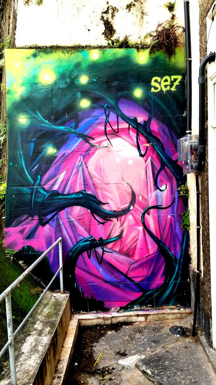Rio de Janeiro, Brasil - Street Art & Graffiti - This is from the Centro region of Rio de Janeiro, which is filled with some unique street art. Oh, Rio with its landscape filled with Street Art!!!  Original Photograph by R. Stowe