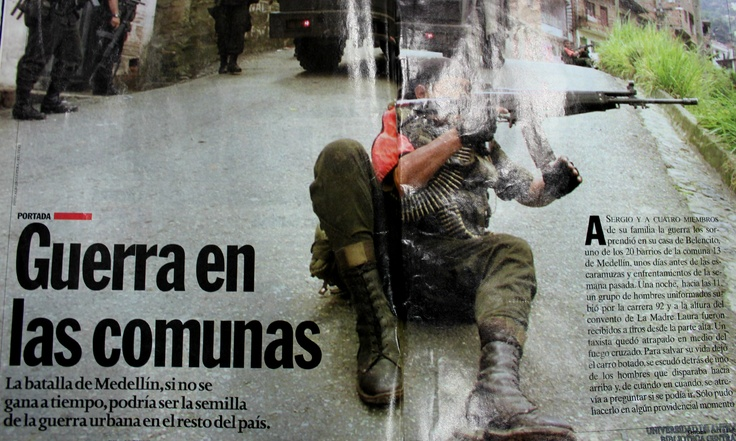 En la Revista Semana hablaban de la guerra en la Comuna 13 como una posible semilla de la guerra urbana en todo el país.