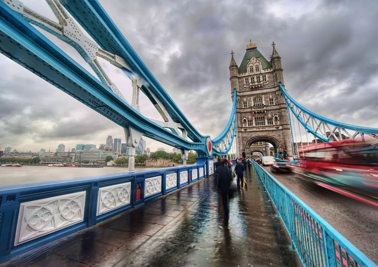 London Tower Bridge.  It was cloudy just like this when we were there.  Makes for a beautiful picture!