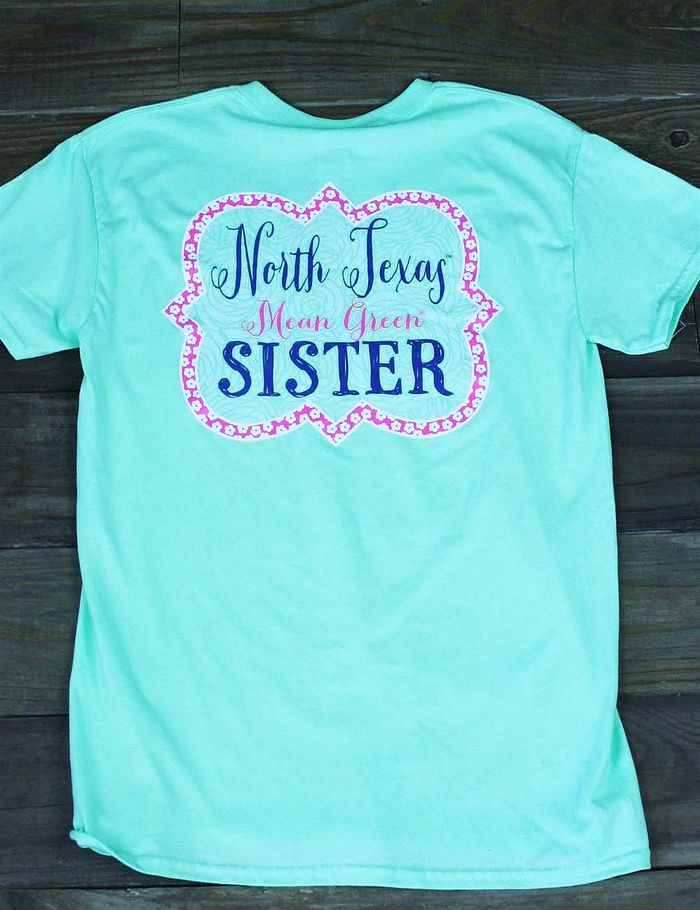 Hey UNT Sister! Show your love for your sibling in this new University of North Texas Sister t-shirt! Go Mean Green!