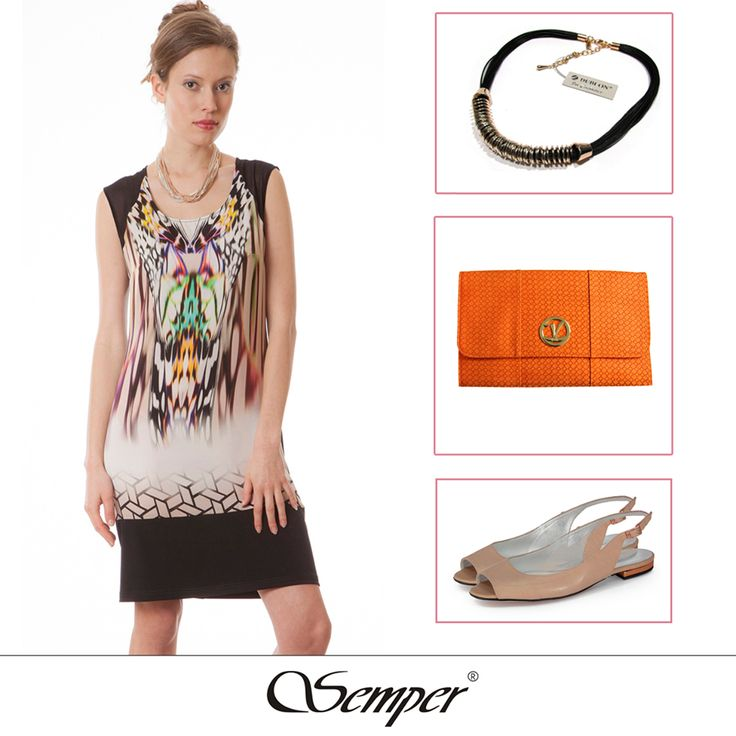 Idealna na co dzień w ciepłe dni #casual #elegant #fashion #dress #fashionbrand #springfashion #summerfashion #summer2016 #printeddress