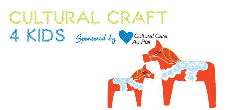 Cultural Craft for Kids: make a Swedish Dala horse!