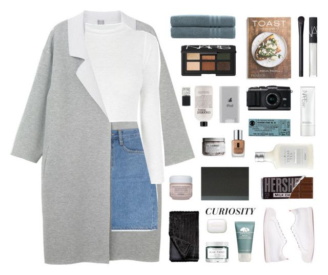"""""""12:29 PM"""" by jmperez2061 ❤ liked on Polyvore featuring Monki, Linum Home Textiles, NARS Cosmetics, PHAIDON, Belkin, L:A Bruket, philosophy, Lane Bryant, Drybar and Clinique"""