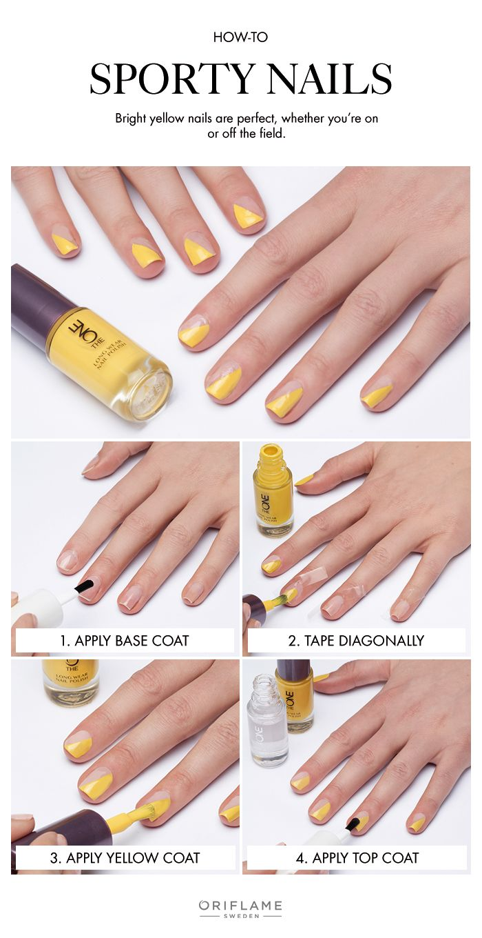 Want to make an impression - on and off the field? We love the look of bright yellow nails.