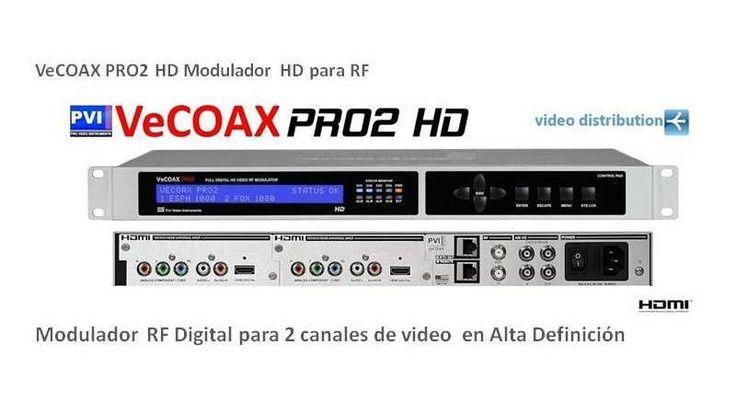 Vecoax Pro2 HD Modulador digital 2 canales HD alta definicion entrada HDMI salida coaxial RF