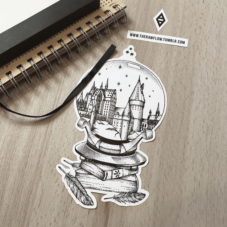 Dotwork Harry Potter Tattoo-Kunst – die weltweit erste Harry Potter Tattoo-Kollektion mit 58 Design-Komponenten und 10 gebrauchsfertigen Muster-Designs (wie diesem). Laden Sie die PDF- oder ZIP-Datei herunter: www.rawaf.shop/tattoo/