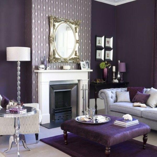 Wohnzimmer Lila - Wohndesign