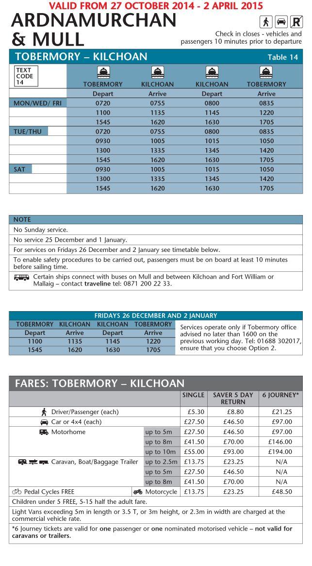 winter-ardnamurchan--tobermory-kilchoan ferry