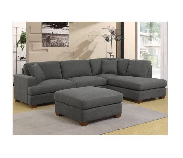 Grey Right Hand Corner Sofa L Shaped Furniture Fabric Settee Couch Accent Pillow Couch Accent Pillows Couch Accents Sofa Bed Furniture