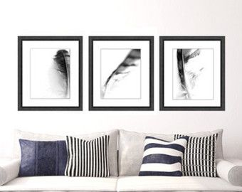 Black And White Print Set Etsy Dining Room ArtBlack