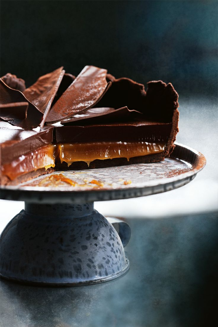 Choc-salted caramel tart.    http://www2.woolworthsonline.com.au/Shop/RecipeCategory/200#url=/Shop/Recipe/2756%3Fname%3Dchocsalted-caramel-tart  #Woolworths #recipe #easter #chocolate