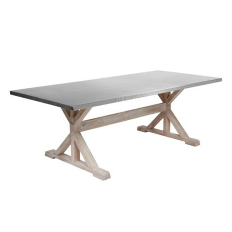 Deluca Stainless Dining Table From Z Gallerie