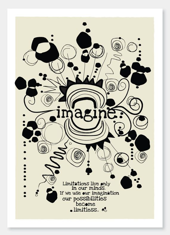 Imagine    A4 art print and illustration by by DailyThoughts, €15.00