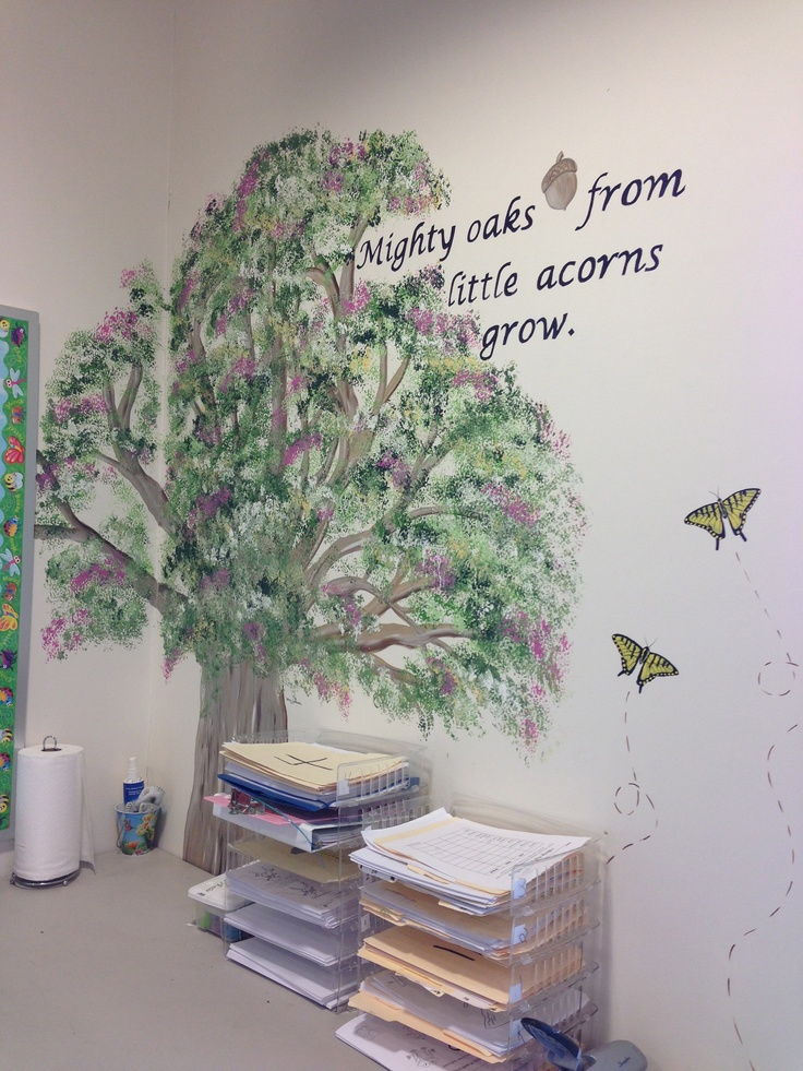 Classroom Decoration Ideas For Grade 5 ~ The tree i painted on my classroom wall along with one of