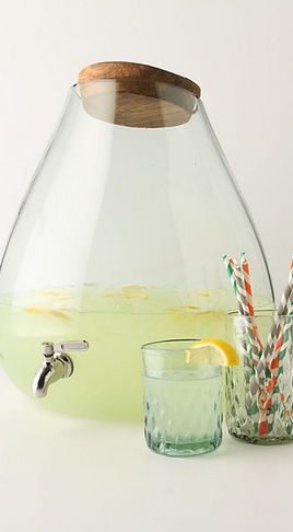 glass bubble drink dispenser