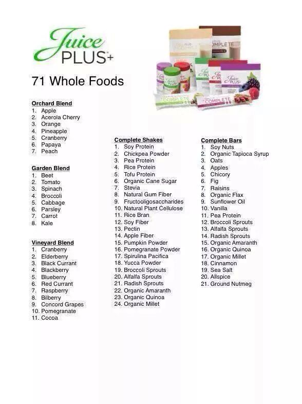 juice plus diet plan detox