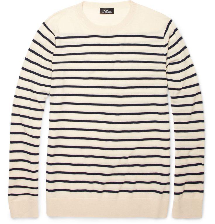 A.P.C. breton stripe wool sweater.: Wool Sweaters, Clothing, Apc, Stripes Sweaters, A P C Breton Stripes, Stripes Fashion, Nice Sweaters, Luxury Sweaters, Stripes Wool