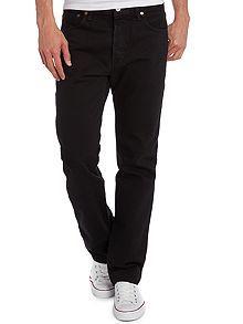 501 Black Straight Jeans