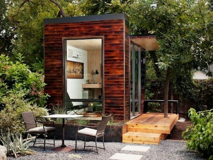 92 Square Foot Backyard Office   Modern   Garage And Shed   Austin   Sett  Studio Iu0027ve Always Wanted A Little Office Like This Apart From My House