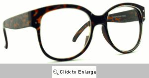 Bugs Big Clear Lens Glasses - 576 Tortoise