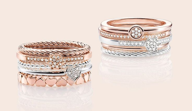 Diamonds are forever. Rose gold is forever chic.