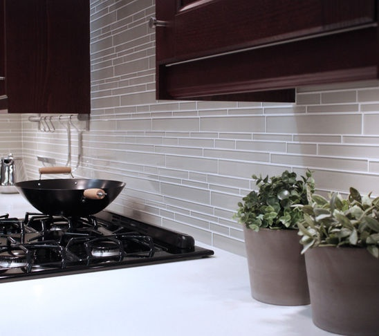 Contemporary Kitchen Tile - contemporary - kitchen tile