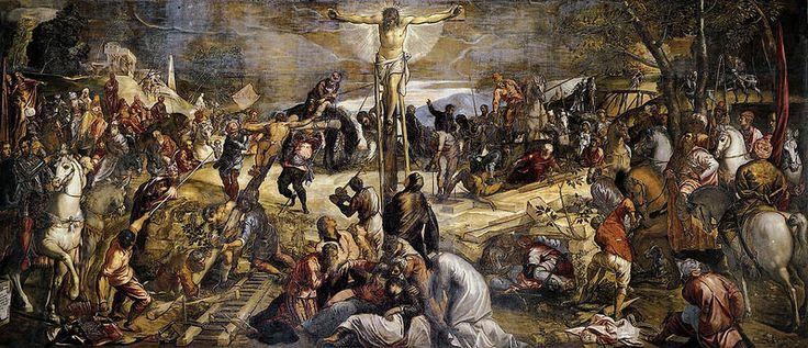 Crucifixion JACOPO ROBUSTI, noto come il TINTORETTO (Venezia, 29 aprile 1519 – Venezia, 31 maggio 1594) #TuscanyAgriturismoGiratola