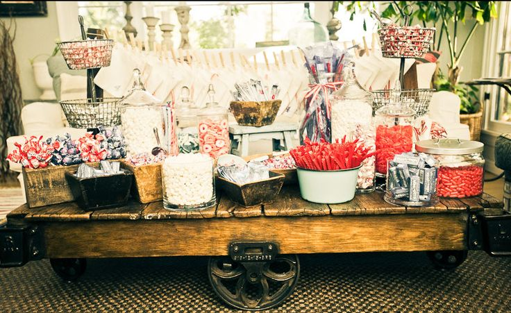 antique and vintage movie candy bar as the night wears on you ll need a sugar kick so set up. Black Bedroom Furniture Sets. Home Design Ideas