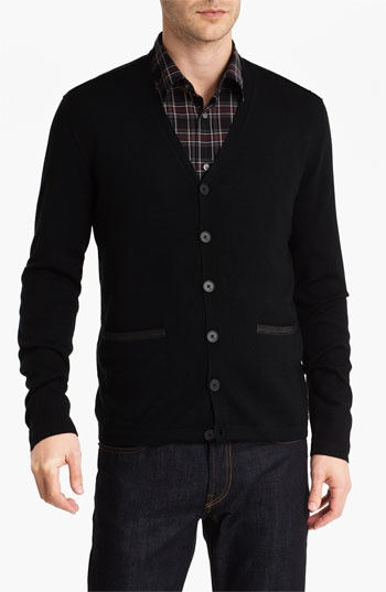 John Varvatos Star USA Leather Trim Cardigan available at #Nordstrom