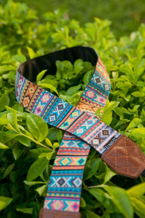 Camera Strap - Soul of Tribal for DSLR and Mirrorless  Design with colorful tribal patterns expressing the spirit of courage and curiosity.  Photography