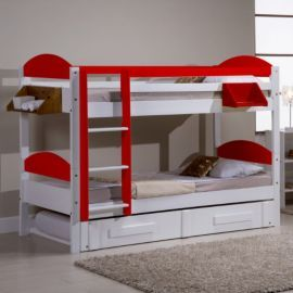 buy max bunk bed red from our bunk beds range tescocom - Tesco Bedroom Furniture