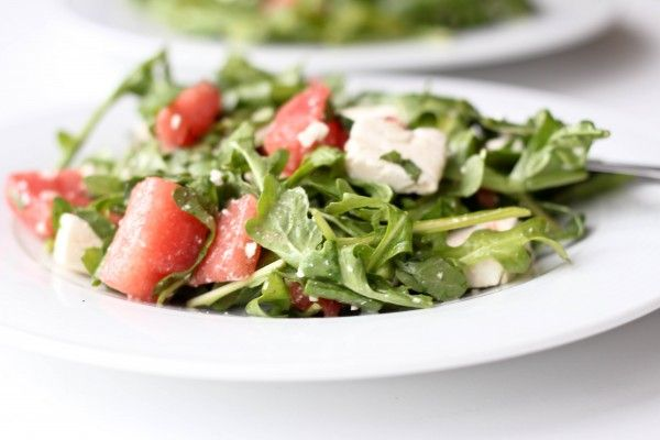 Watermelon Feta Salad with Citrus Vinaigrette: Plate Arugula Watermelon Feta, Feta Salad, A Recipes Salad, Citrus Vinaigrette, Food, Vinaigrette Recipe, Healthy, Arugula Recipes, Yummy