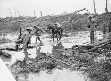 The Battle of Pilckem Ridge: Crossing the Yser Canal at Boesinghe, 31st July 1917., Brooks Ernest (Lieutenant)