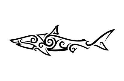 Tribal Shark Art Print