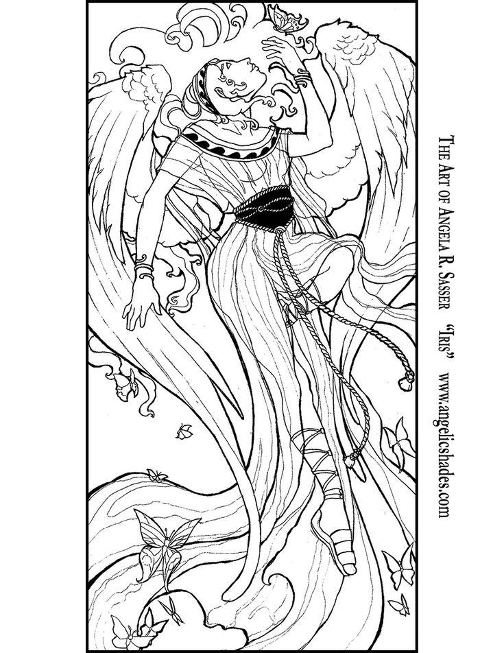 428 besten lineart angels bilder auf pinterest  engel