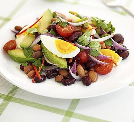 Not one to leave your tummy rumbling, this filling salad really hits the spot and has a spicy kick