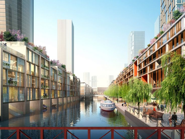 Meixi Lake (Changsha, China) - Project by KPF Kohn Pedersen Fox Associates  http://www.archipanic.com/new-urban-ecologies/