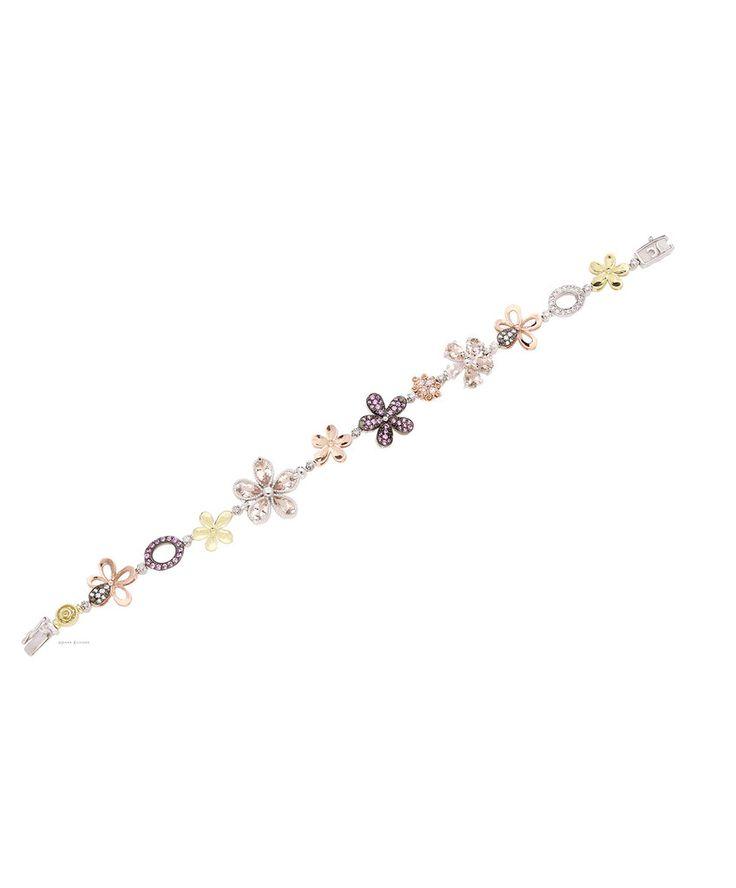 Delicate diamond, morganite and gold bracelet - lightens the soul. Love Me Daisy Bracelet