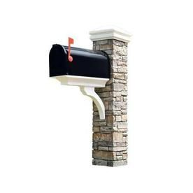 Eye Level Gray Cast Stone Mailbox Post cool kit to make this!