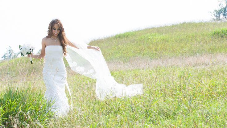 Copper Creek bride in field