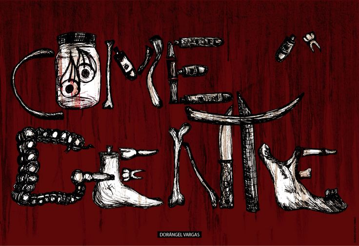 """Diseño de cartel sobre """"el comegente"""" dorángel Vargas"""